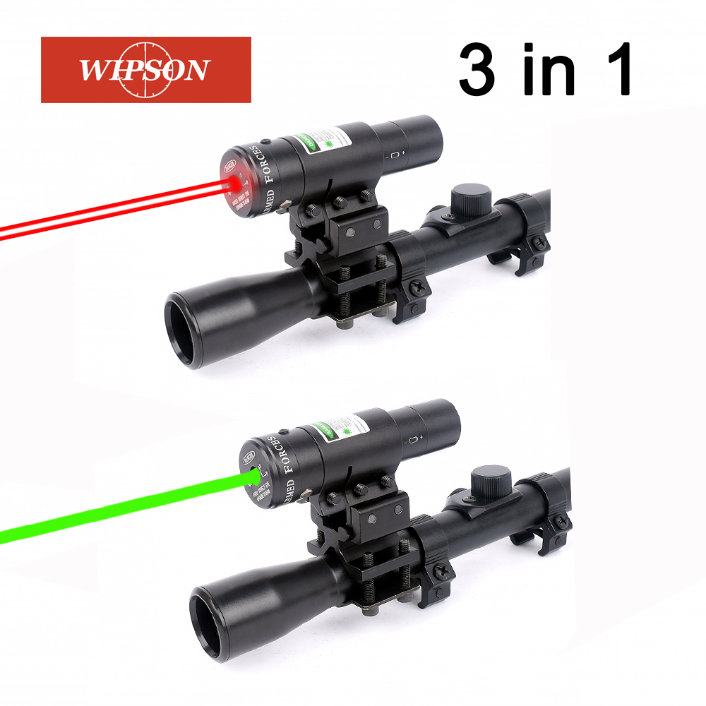 WIPSON 4x20 Hunting Riflescopes Sight Optics Airsoft Air Guns Scopes Sniper Reticle Pistol Reflex Sight Holographic Sight