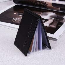1 шт., черный, из искусственной кожи, 40 карт, ID, кредитный держатель для карт, чехол-книжка, органайзер для паспорта, чехол для кредитных карт, бизнес, винтажная сумка