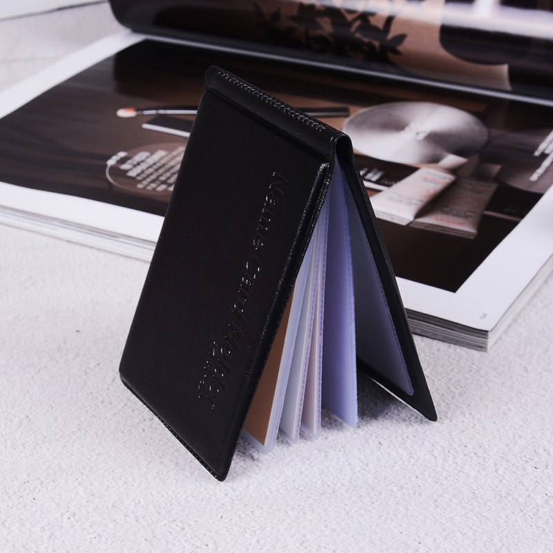 1PC Black PU Leather 40 Cards ID Credit Card Holder Book Case Keeper Organizer Passport Credit Card Case Business Vintage Bag