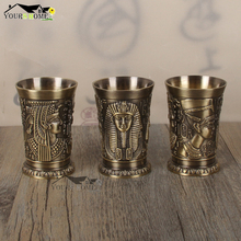 1PCS 40ml Metal Alloy Creative Ancient Egypt Shot Glass Bar Drinkware Accessory