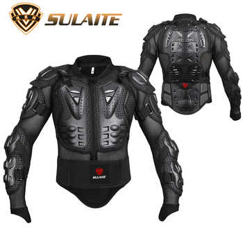 Genuine Motorcycle Jacket Racing Armor Protector ATV Motocross Body Protection Jacket Clothing Protective Gear Mask Gift