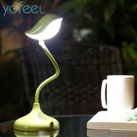 LED Table Lamps Creative Lovely Bird Novelty Gift Desk Lamps Dimmable 360 Degree Adjustment With USB