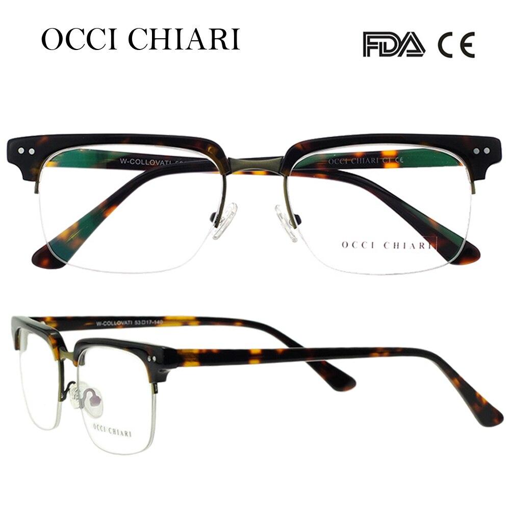 Image 2 - OCCI CHIARI  Fashion Eyeglasses  Men Women Brand Designer Prescription Nerd Lens Medical Optical Glasses Frame  W COLLOVATIbrand eyeglasses mendesigner eyeglasses meneyeglasses brand men -