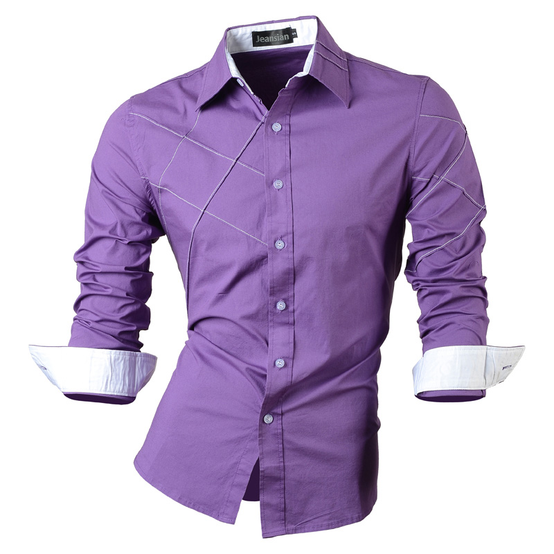 jeansian casual shirts dress male mens clothing long sleeve social slim fit brand boutique cotton western button 2028 2