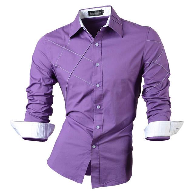 9ea32f584cc placeholder 2019 casual chemises robe mâle vêtements pour hommes à manches  longues sociale slim fit marque boutique