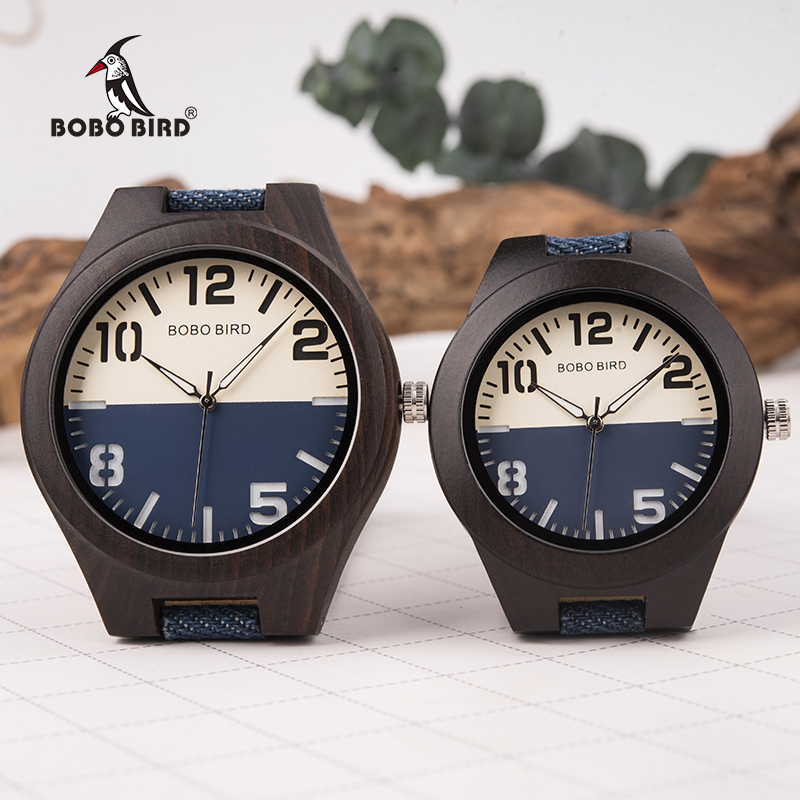 BOBO BIRD Lover Wood Watch Stylish Luxury Top Brand Men Women Quartz Wristwatch Girlfriend Gift Couple Gift In Box L-R29