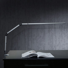 German Design LED Clip Table Lamp Alumimun Alloy Stretch Arm Working Lamp 3000K 5500K SMD3014 LED Chip Eye Protect Led Desk Lamp(China)