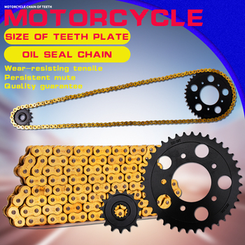 1 Set Motorcycle Accessories Front and Rear Gear Sprocket Chain & DID 520-120 Chain For Honda CB-1