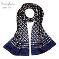 Xales longo Cachecol Paisley 100% de Dupla Camada De Seda De Cetim de Luxo Da Marca designer Patchwork lenço de seda para homens Lenços Hijab Muçulmano