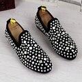 Zapatos de la manera de la tendencia de los zapatos de matorral ascensor envoltura del pie zapatos de diamantes