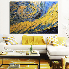 Abstract Art Posters and Prints on Canvas Wall Oil Paintings Van Gogh Starry Sky Partial Pictures for Living Room Home Decor