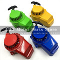 New Red Blue Green Yellow Aluminium Pull Starter Start Mini Pocket Bikes ATVs Quad 49cc Mower Engines Free Shipping