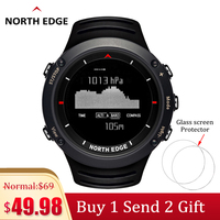 North Edge Men Sport Smart Watch Waterproof 50M Swimming Digital wrist Watches Military Altimeter Barometer Compass Thermometer