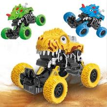 Dinosaur Climbing Car Big Wheel Off Road Vehicle Tyrannosaurus Model Pull Back Car Toys for Children Birthday Christmas Gift big tyrannosaurus