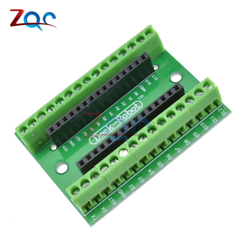 NANO V3.0 3.0 Controller Terminal Adapter Expansion Board ATMEGA328P NANO IO Shield Simple Extension Plate For Arduino AVR все цены
