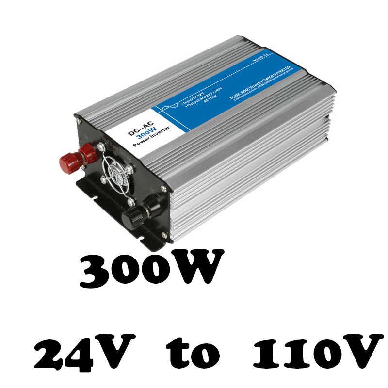 Fabricantes de suministro directo 300 24 v CC a 110 v ac fuera de la red convertidor de voltaje inversor de onda sinusoidal pura solar inversor AG300-24-110