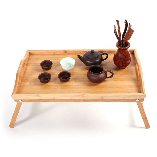 Bamboo Foldable Breakfast Table, Laptop Desk, Bed Table, Serving Tray Only Ship to USA