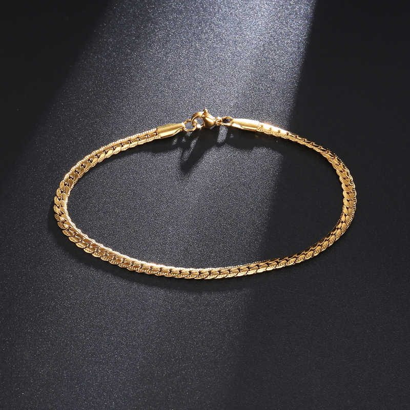 HIP 316L Stainless Steel Bracelet Franco Link Chain Bracelet For Mens Women Jewelry Male Bracelets Bangles DropShipping