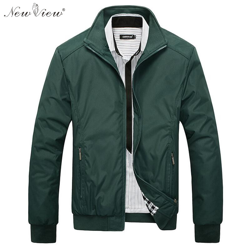 Men Jacket Male Casual Slim Fit Mandarin Collar Solid Jackets M XXXL Brand New 2016 Men