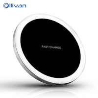 OLLIVAN Qi Wireless Charger Portable 9V Mobile Phone Charging Fast Charger For Samsung S8 Plus S7