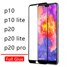 Case On For Huawei P20 Lite Pro P10 Cover Full Glue Tempered Glass Honor P 10 20 P10lite P20lite Light Phone Screen Protector 9h(China)