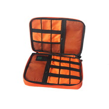 1PCS Travel Storage Bag Waterproof 2 Layer USB Cable Ipad Organizer Cellphone Earphone Power Bank Electronic Digital Gadget Case
