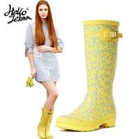 Hellozebra originale des Femmes réglable de pluie hautes bottes en plein  air chaussures 2018 D  e855c7651a40