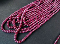 AA loose beads red Ruby roundel 3 5mm for DIY jewelry making 34cm FPPJ wholesale beads nature gem stone
