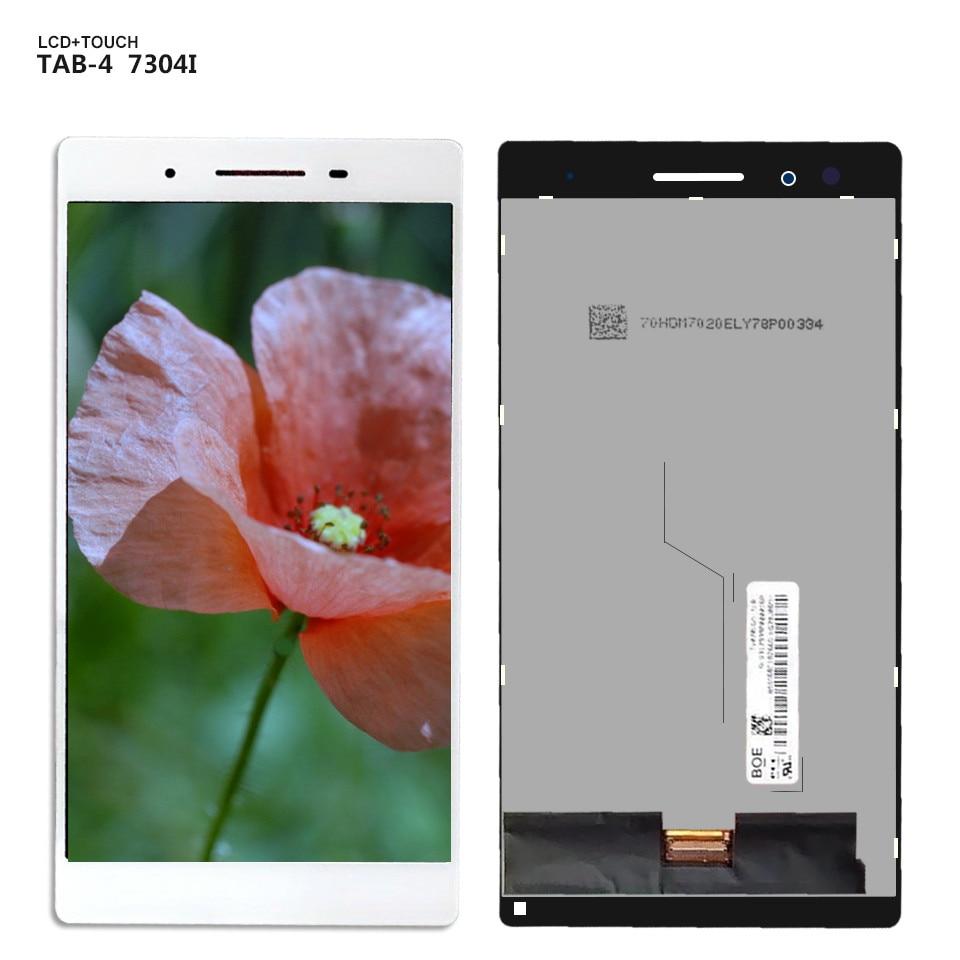 Para lenovo tab 4 TB-7304i lcd TB-7304x tb 7304i display lcd tela de toque digitador assembléia vidro + ferramentas