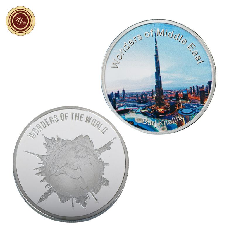 WR Burj Khalifa Commemorative Silver Plated Coin Middle East Nice Scenery  Challenge Coin Quality 999 9 24k Silver Coin-in Non-currency Coins from  Home