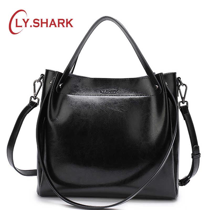 6de2dc8a0850 SHARK женская сумка женская натуральная кожа сумки для женщин 2018 через  плечо сумка женская