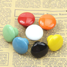 Colorful Ceramic Round Cabinet Wardrobe Drawer Cupboard Knob Drawer Pull Handles