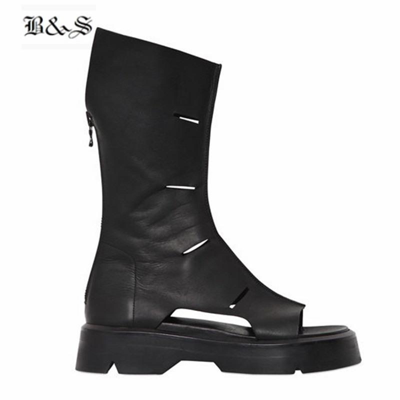 Black&Street 2018 new Summer Genuine Leather Men
