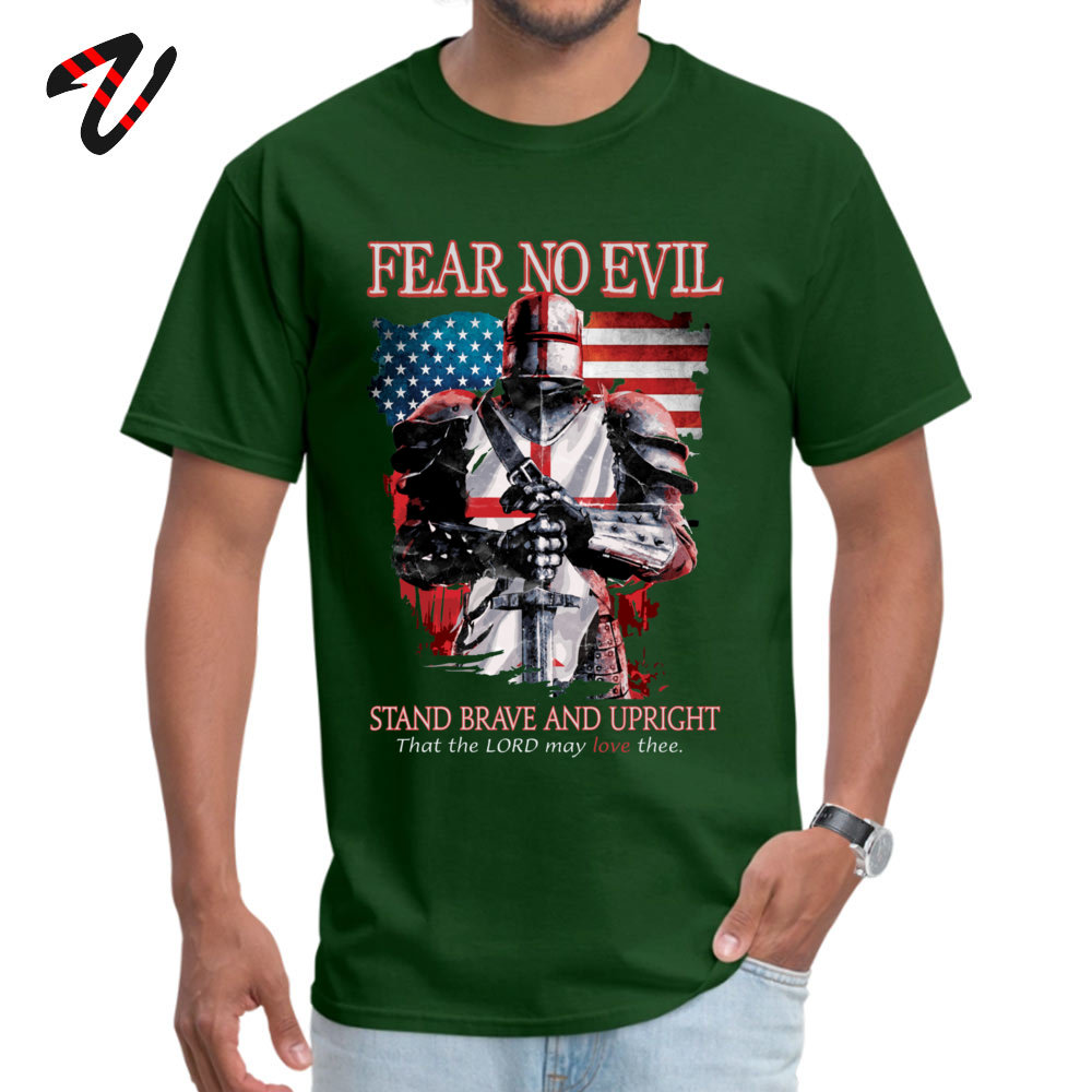 Young Newest Tops Shirt Crewneck Lovers Day All Cotton T Shirt Casual Short Sleeve FEAR NO EVILTEMPLAR KNIGHTS T Shirt FEAR NO EVILTEMPLAR KNIGHTS17845 dark