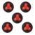 5 pcs Botão de Chamada Garçom Chamando Sistema de Paginação de Hóspedes Sem Fio Pager para Restaurante Hotel Cafe Bar Club 433 MHz F3277A