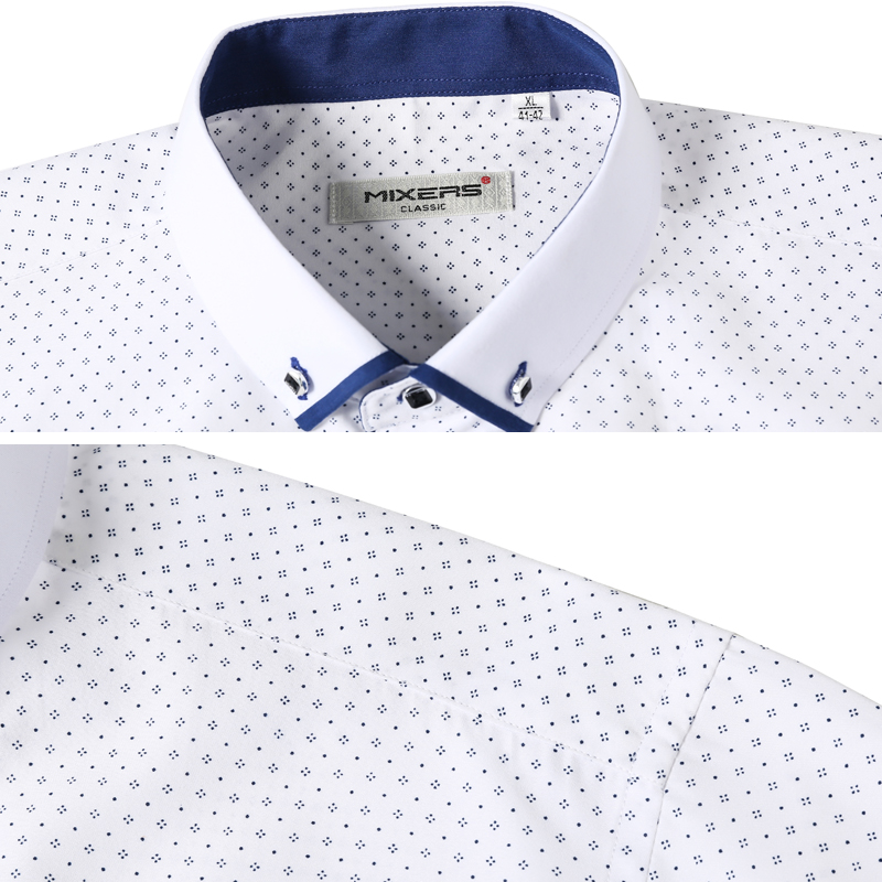 0937b644ae6 New Arrival 2018 White Shirt Men Long Sleeve Business Casual Shirts Men  Dress ...