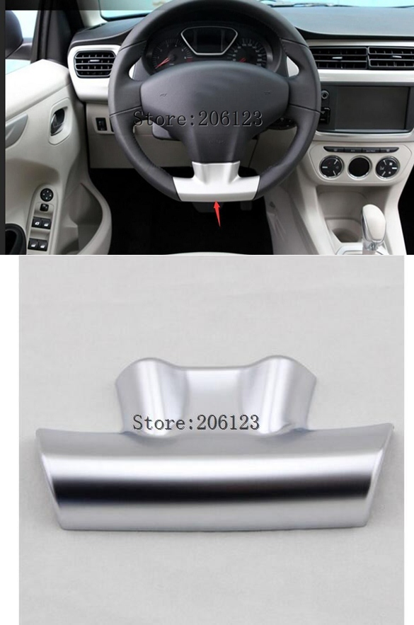 car auto sedan cover For CITROEN Elysee C-Elysee 2013 2014 2015 2016 2017 ABS matt silver steering wheel cap trim