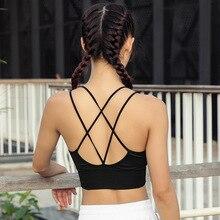 купить Women Sports Bra For Running Gym Wire Free Shakeproof Push Up Yoga Bra Female Seamless Underwear Fitness Sport Top дешево