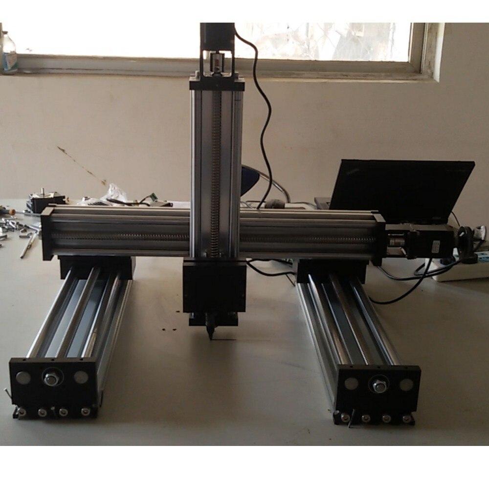 Module d'actionneur de glissière d'étape de mouvement de vis à billes de rail de guidage linéaire de CNC de 3 axes x y z table de mouvement faite sur commande
