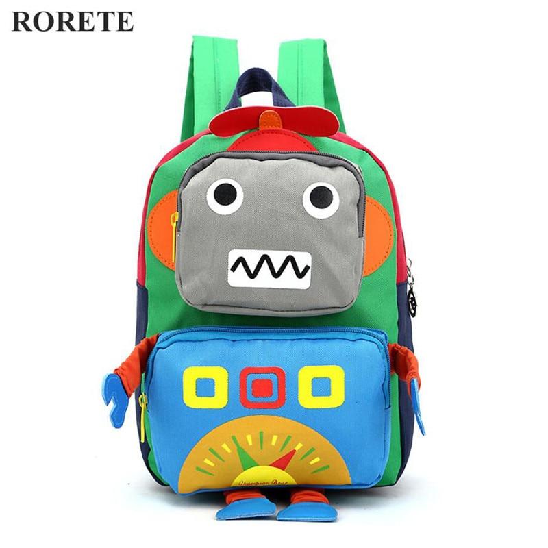 3D Cartoon kids Bag Robot mochila children backpacks kindergarten backpack  child school bags Satchel for baby boys and girls -in School Bags from  Luggage ... 4e011286b37fa