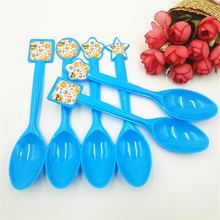 6pcs/set Smile Face Plastic Spoons Party Supplies Smiling Emoji Spoon Birthday Christmas Festival Decoration Favors