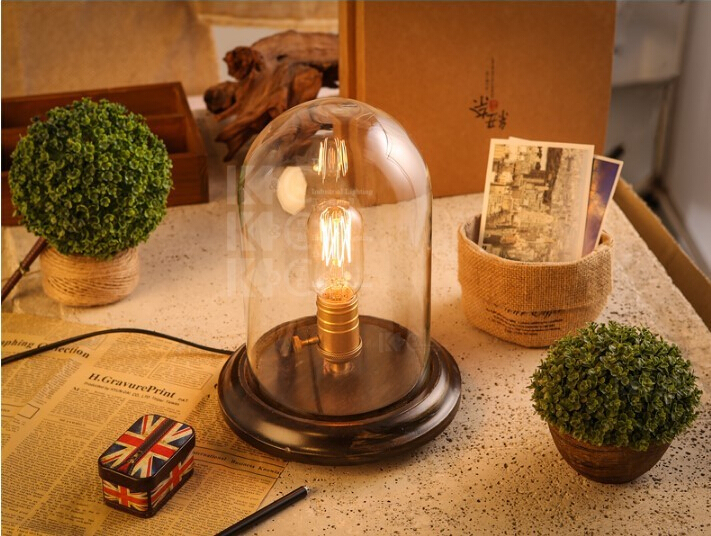 Modern Edison Desk Lamps Metal Tafellamp, Table Lamps With Glass Lampshade For Living Room,Luminaria De Mesa new 2017 modern table lamps metal personalized desk lamp with glass shade for beside home decor for bedroom living room