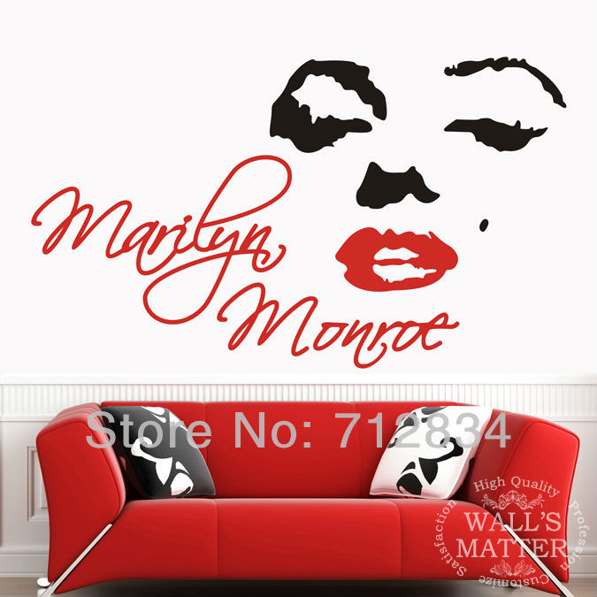 [B.Z.D] Free Shipping Marilyn Monroe Art Decals Removable Home Decor Vinyl Wall  Stickers 145 X 85cm In Wall Stickers From Home U0026 Garden On Aliexpress.com  ...