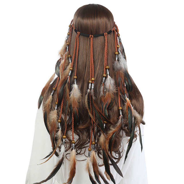 Boho Style Feather Headband