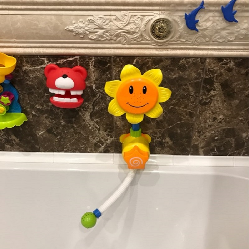 Bath Toys For Kids Baby Sunflower Swimming Toy Bath Water Shower ...