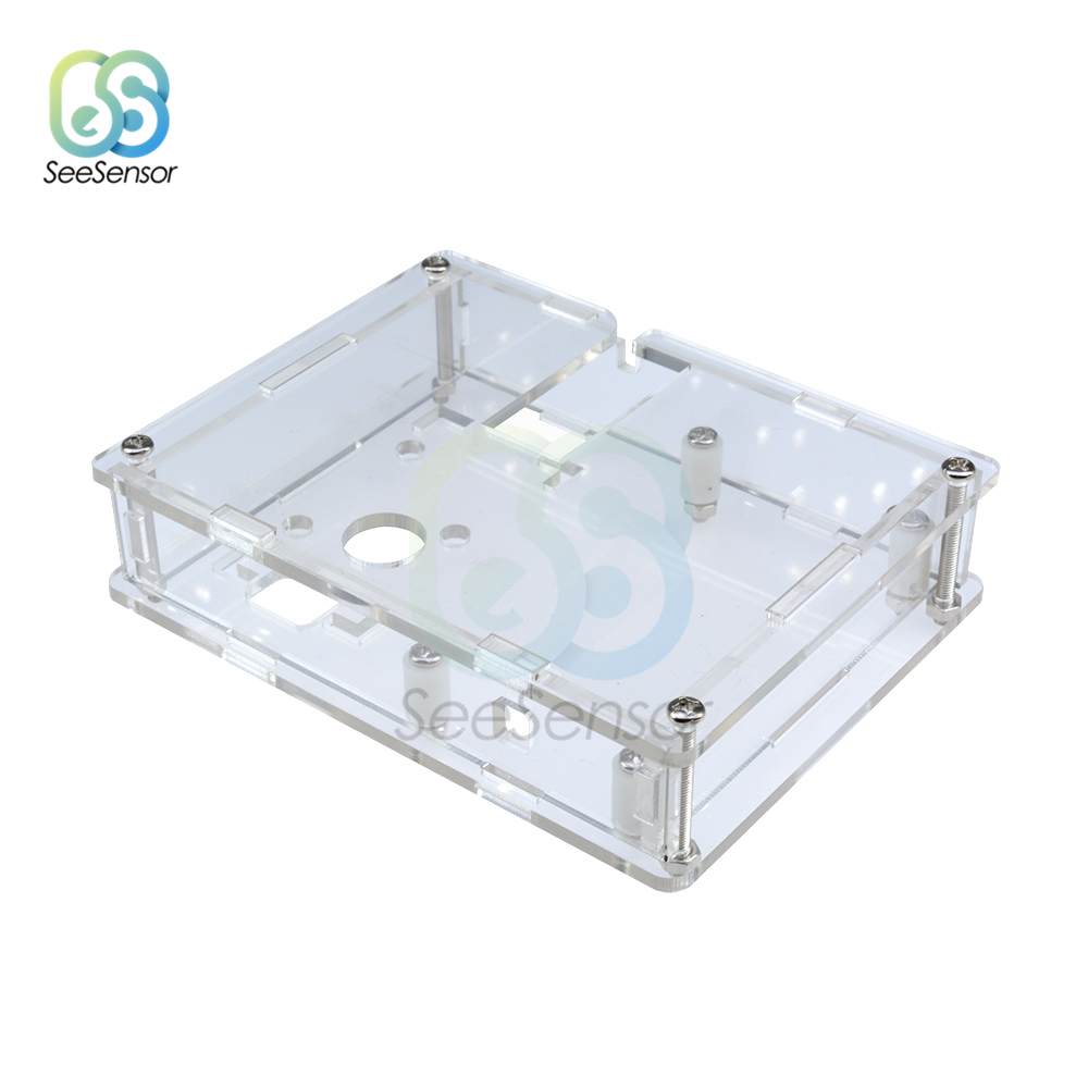 Transparent Acrylic Case Shell Box For LCR-T4 ESR Transistor Tester Capacitance
