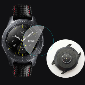 Image 5 - 2 set Carbon Fiber Watch Back Protector Film+Tempered Film Protetor Watch Screen For Samsung Galaxy Watch 46mm 42mm Gear S3 22mm