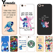 Yinuoda For iphone 7 6 X Case Lilo and Stitch Quote Ohana means Family Phone Case for iPhone 8 7 6 6S Plus X 10 5 5S SE 5C XS XR(China)