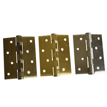 4 Inch Stainless Steel 3mm Thickness Silvery Golden Or Bronze 4 100x76mm Door Or Furniture Hinges stainless steel black hinges for door high quality mute bearing flat hinges 4 inch