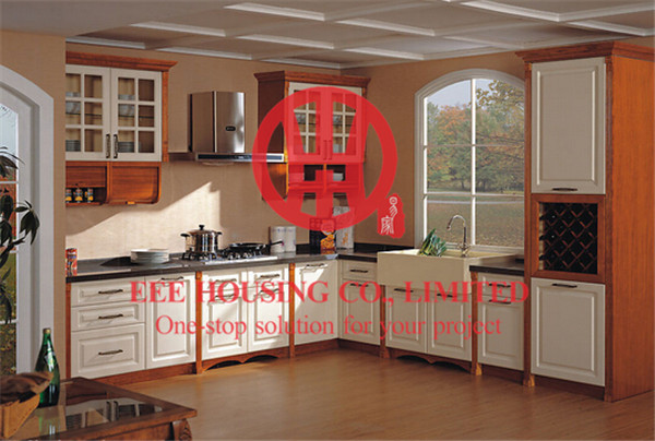 Modern Elegant Solid Wood Kitchen Cabinet With Excellent Design And Quality Shipping By Sea